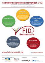 Kleine Version des Posters zu den Dienstleistungen des FID Romanistik
